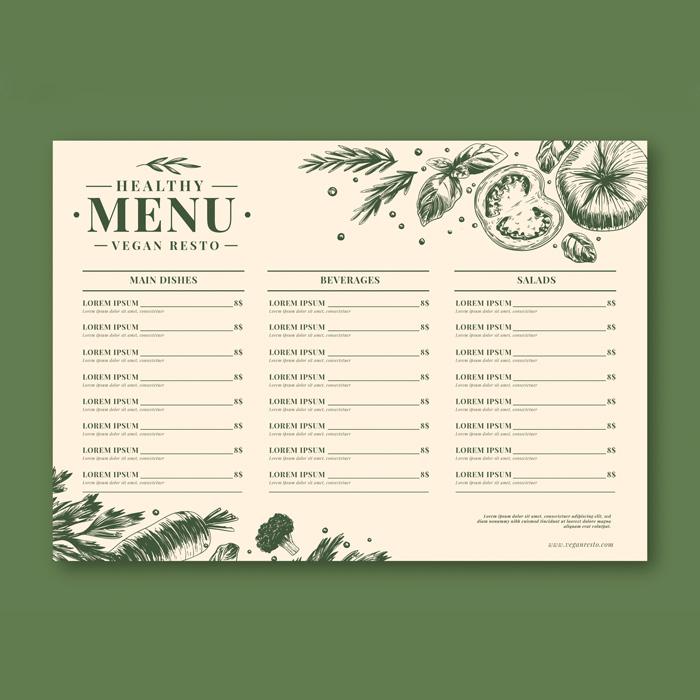 Einweg Tischset für die Gastronomie